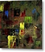 Abstract Patchwork Metal Print