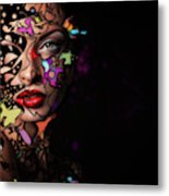 Abstract Portrait No 12 Metal Print