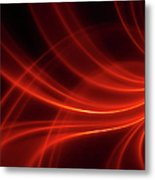 Abstract Red Dynamic Lines Backgrounds Metal Print