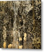 Abstract Scary Ocher Plaster Metal Print