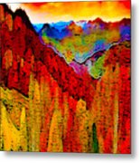 Abstract Scenic 3 Metal Print