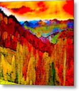 Abstract Scenic 3a Metal Print
