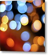 Abstract Spotted Color Pattern Dot Of Metal Print