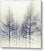 Abstract Trees In Winter Metal Print