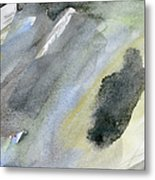 Abstract Watercolor Painted Metal Print