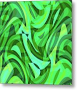 Abstract Waves Painting 0010075 Metal Print