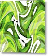 Abstract Waves Painting 0010081 Metal Print