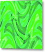 Abstract Waves Painting 0010082 Metal Print