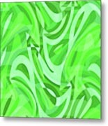 Abstract Waves Painting 0010086 Metal Print