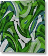 Abstract Waves Painting 0010087 Metal Print
