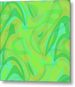 Abstract Waves Painting 0010089 Metal Print