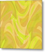 Abstract Waves Painting 0010091 Metal Print