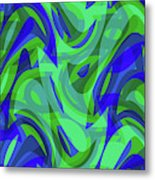 Abstract Waves Painting 0010094 Metal Print