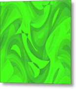 Abstract Waves Painting 0010100 Metal Print