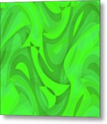 Abstract Waves Painting 0010101 Metal Print