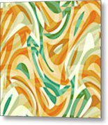 Abstract Waves Painting 0010105 Metal Print