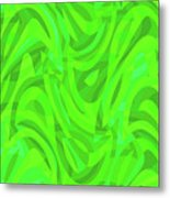 Abstract Waves Painting 0010106 Metal Print