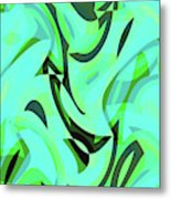 Abstract Waves Painting 0010107 Metal Print