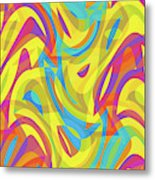 Abstract Waves Painting 0010109 Metal Print