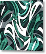 Abstract Waves Painting 0010112 Metal Print