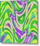 Abstract Waves Painting 0010113 Metal Print