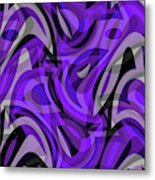 Abstract Waves Painting 0010115 Metal Print
