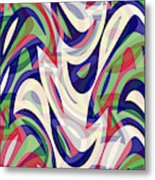 Abstract Waves Painting 0010118 Metal Print