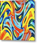 Abstract Waves Painting 007176 Metal Print