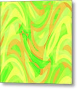 Abstract Waves Painting 007178 Metal Print
