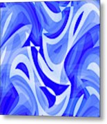 Abstract Waves Painting 007183 Metal Print