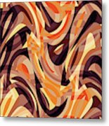 Abstract Waves Painting 007187 Metal Print