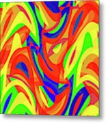 Abstract Waves Painting 007192 Metal Print