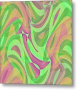 Abstract Waves Painting 007214 Metal Print