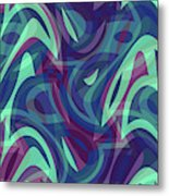 Abstract Waves Painting 007219 Metal Print