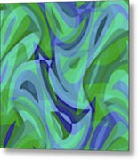Abstract Waves Painting 007221 Metal Print