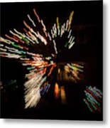 Abstracted Christmas - Luminous Fairy Lights Patterns Metal Print