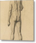 Academic Nude, Seen From The Back Metal Print