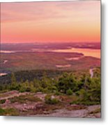 Acadia National Park Sunrise  Metal Print