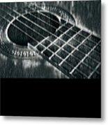 Acoustic Guitar Musician Player Metal Rock Music Black Metal Print