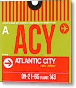 Acy Atlantic City Luggage Tag I Metal Print