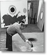 Adolph Gottlieb In His Studio Metal Print