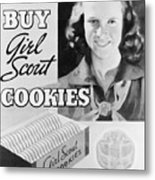 Advertisement Poster For Girl Scout Metal Print