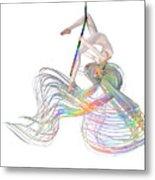 Aerial Hoop Dancing Ribbons For Her Hair Png Metal Print