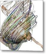 Aerial Hoop Dancing Whirlwind Of Hair Png Metal Print