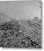 Aerial View Of Downtown San Francisco From The Air Metal Print