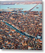 Aerial View Of Grand Canal, Venice, Italy Metal Print
