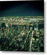 Aerial View Of Manhattan Skyline  Metal Print