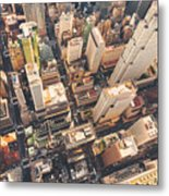 Aerial View Of Midtown Manhattan At Metal Print