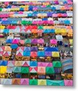 Aerial View Of Multiple Color Roof To Metal Print
