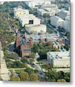 Aerial View Of Museums On The South Side Of The National Mall In Metal Print